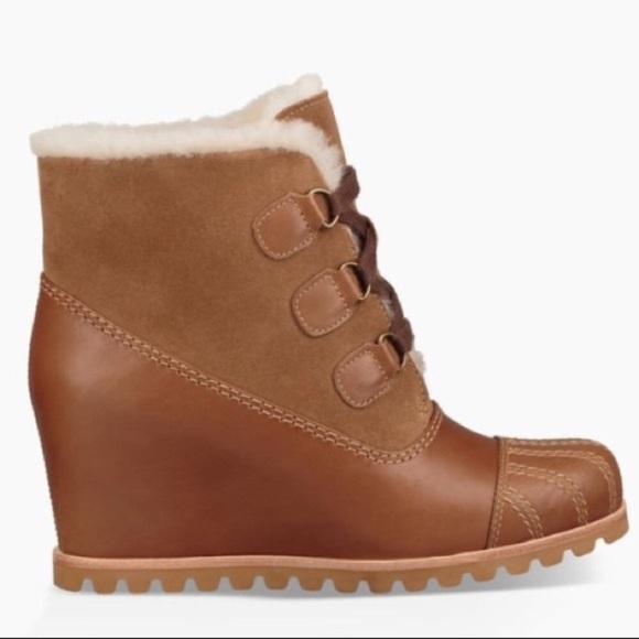 fea94139aee ❤️New Ugg Alasdair Chestnut Bootie wedge boot Sz 5